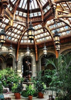 Not just any atrium.this is the Atrium in the Biltmore Estate. Patio Interior, Interior Exterior, Interior Architecture, Garden Architecture, Renaissance Architecture, Victorian Architecture, Historical Architecture, Beautiful Architecture, Future House