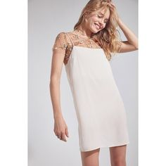 Silence + Noise Square Neck Slip Mini Dress (€42) ❤ liked on Polyvore featuring dresses, slim fit dress, spaghetti strap dress, slimming dresses, spaghetti strap mini dress and silence noise dress