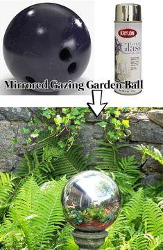 Make a Mirrored Gazing Garden Ball for Garden.