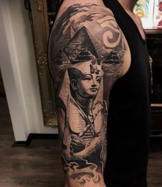 There are different types of tattoos that you can opt for and one of them is the Egyptian tattoo. These tattoos are made with from different symbols and they take a different meaning altogether. Here is a look at the Egyptian tattoos. Black People Tattoos, Fake Tattoos, Body Art Tattoos, Tribal Tattoos, Tattoos For Guys, Small Tattoos, Script Tattoos, Arabic Tattoos, Flower Tattoos