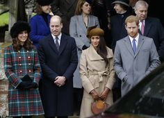 The two Royal couples looked the picture of elegance as they watched the Queen leave the church by car today