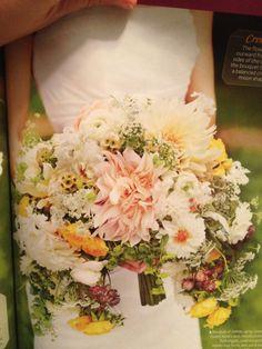 GORGEOUS!!! dahlia, spray roses, queen anne's lace, ranunculuses, maidenhair ferns and astrantias