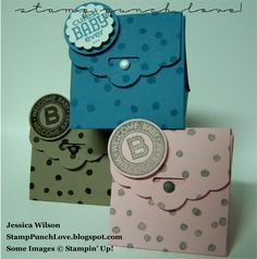 Stamp, Punch, Love!: Tent Bag - using the Scallop Tag Topper Punch