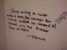 Bathroom Stall Wisdom bathroom stall graffiti, whidbey island, wa | things that are