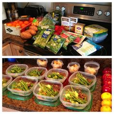 Meal Prep Containers | . My meal prep to get me through the week! The sandwich containers ...