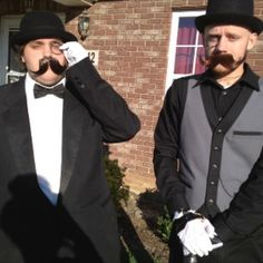 My silly boyfriend and his best friend on Halloween :D