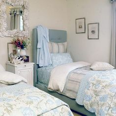 Soft blues and whites offer a comforting escape.