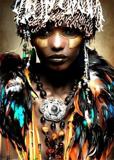 Afrofuturism Tribal Photos and interrupted Black Identity Foto Fashion, Tribal Fashion, African Fashion, Fashion Art, Editorial Fashion, Fashion Bible, Fashion Jewelry, African Beauty, African Women