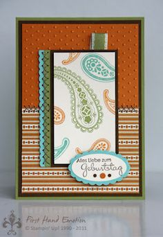 Stampin' UP! Herbstnostalgie Spiced Paisley by First Hand Emotion