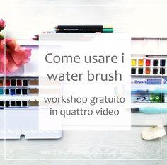 Ho realizzato per te un workshop gratuito composto da quattro video che spiegano come usare i water brush per colorare i disegni con acquerelli e matite acquerellabili + varie risorse da scaricare e consigli per gli acquisti.