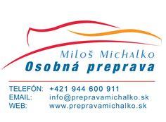 Osobná preprava - Miloš Michalko Tech Companies, Company Logo, Logos, Logo