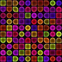 Fluoro pattern on the photoshop website