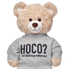 Friends forever…stick together! True friendship is as special as a the person you can't BEAR to go to Homecoming without! A furry friend in this cute HOCO Sweatshirt is a cute way to pop the question!