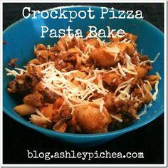 Crockpot Pizza Pasta Bake