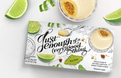 Packaging for Enough of a (Very) Good Thing is Refreshingly Light #dessert trendhunter.com