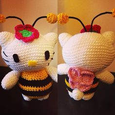 Bee Kitty #amigurumi #amigurumis #gorjuss #allgoodthings #knit #knitting #crochet #Craft #crochetaddict #hechoamano #diy #hellokitty #cat #kitty #pituserias