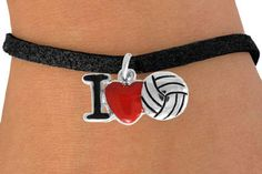 """Volleyball Jewelry - """"I Heart VB"""" Bracelet Volleyball Jewelry, Volleyball Jerseys, Volleyball Players, Birthday List, Athletic Outfits, Anklets, Belly Button Rings, Jewelry Gifts, Heart"""