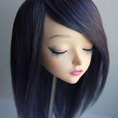 Feeple60 fairyland sd wig mix navy blue violet purple dark