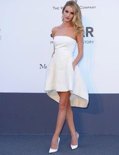 Rosie Huntington-Whiteley in Dior at the Cinema Against AIDs Gala 2013