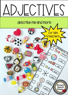 DO YOU LIKE TRINKETS & DOODADS? These descriptor cues & YEAR-ROUND MATS are the PERFECT COMPANION for working on SPEECH & LANGUAGE goals while using all your little doodads! Grab your Dinky Doodads, Target erasers and trinkets, and use all those little collectibles. Make some fun sensory bins using doodads. Resource includes a variety of year-round and holiday themes, color & black and white mats. Parent Letter included too! SLPs, Pre-k, kindergarten, 1st, 2nd, 3rd, 4th grade.