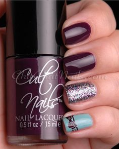 ChitChatNails : Cult Nails Vicious + Opi VHTF OPI Mad as a Hatter!!!! . IMHO: Vicious steals all the thunder int this mani! :)