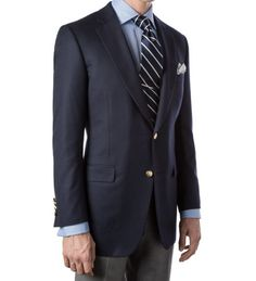 A navy blazer can pull any outfit together. If you're feeling adventurous, brass buttons always look great. Navy Blazers, Blazers For Women, Mens Essentials, Fashion Essentials, Style Essentials, Timberland Style, Timberland Fashion, Looking Dapper, Suit And Tie
