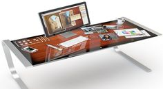 Concept future computer desk for Mac and iPhone users.