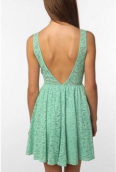 sassy back and color ... of course, love the lace