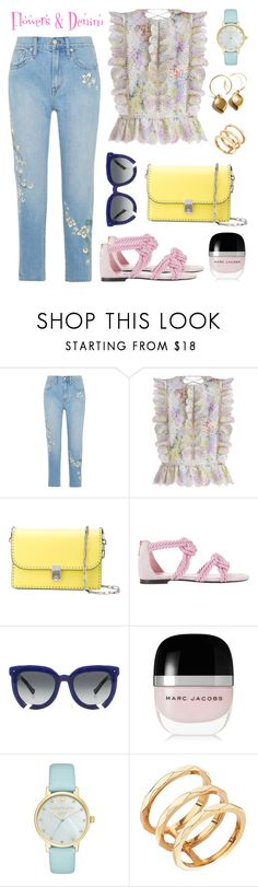 """Flowers & Denim"" by ana-amorim ❤ liked on Polyvore featuring Madewell, Zimmermann, Valentino, Maison Ernest, Grey Ant, Marc Jacobs, Kate Spade and Edge of Ember"