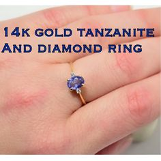 14K Solid Gold Cardow Tanzanite & Diamond Ring This is a beautiful 14k Solid Yellow Gold Tanzanite & Diamond Ring. Size 7.25. Marked inside band: 14k CARDOW 585. Measures: Tanzanite stone 5mm x 7mm & 2 diamonds are 1.5mm. Weight 1.55 grams. This is a really nice quality ring in excellent pre-owned condition! Great everyday wear that can be dressed up or down! Thanks for stopping by! I appreciate your interest! Have s blessed day! Please don't hesitate to ask any questions! Please make…