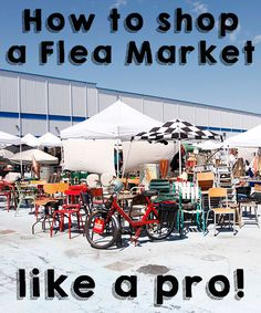 It's easy to walk into a flea market, get overwhelmed, and immediately depart empty-handed. Check out this article for some great tips, hacks, and resources to help you navigate the market with a little more ease and a lot less panic!