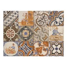 Tile Decorative Provenzia Decorative Mix Pattern Porcelain Tile  Bath Remodel