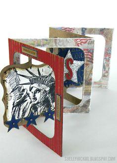 Stamptramp: Patriotic Accordion Card