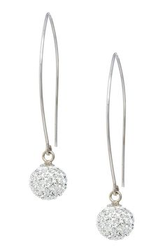 Sterling Silver Swarovski Crystal Ball Drop Earrings