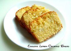 Eggless Lemon Coconut Bread