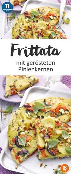 Frittata mit gerösteten Pinienkernen, Hauptgericht, Mittagessen, Abendessen, vegetarisch | Weight Watchers