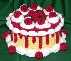 Raspberry Caramel Treasure Cake PDF Crochet by FourBeesDesigns, $4.95 Inspiration