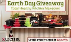 Enter to win a total healthy cookware makeover sponsored by Ceramcor Xtrema Cookware. #cookware #giveaway #earthday