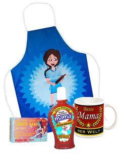 Ein #Geschenke Set zum #Muttertag: Tasse, Shampoo, Seife und Schürze für #Mama!