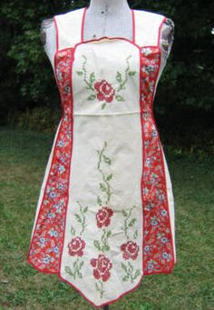 Pretty apron with embroidery | Flickr - Photo Sharing!