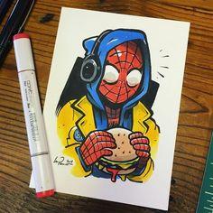 marvel drawings My boyfriend! Take Spiderman for l - marvel Marvel Drawings, Art Drawings Sketches, Cartoon Drawings, Cute Drawings, Spiderman Drawing, Spiderman Art, Vexx Art, Cartoon Fan, Cartoon People
