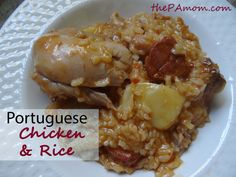 Portuguese Chicken & Rice (Arroz com Frango) One pot meal, easy, inexpensive and delish!