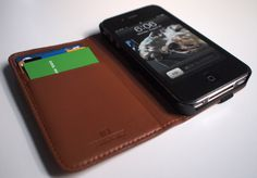 Hex Code Notebook-inspired leather wallet and iPhone 4 case