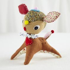 Kids Stuffed Animals: Daisy Deer Patchwork Doll in All New