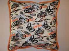 Motorcycle Pillows by GoughGoodies on Etsy