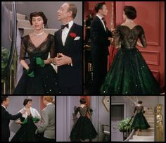 The Band Wagon: Cyd Charisse's black/green dress. I ADORE this whole outfit!