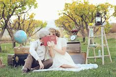 "Check out this company on FB. Love their photos - Vintage Engagement ""Picnic"" Styled Shoot Picnic Engagement, Engagement Shoots, Engagement Photography, Wedding Photography, Photoshoot Themes, Pre Wedding Photoshoot, Engagement Photo Inspiration, Engagement Pictures, Vintage Engagement Photos"