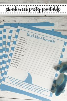 If you are hosting a Shark Party, be sure to download this free Shark Word Scramble from Everyday Party Magazine #SharkWeek #SharkParty #FreePrintables
