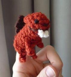 Beaver finger puppet