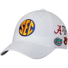SEC Top of the World All Team Structured Adjustable Hat - White 9962f642ec53